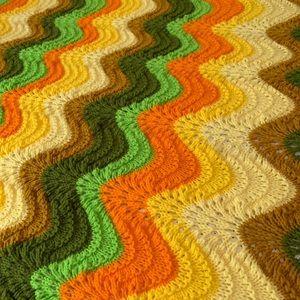 Vintage Bedding - Vintage Crochet Knit Blanket Throw